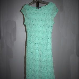 Sharagano Seafoam Mint-Colored Dress
